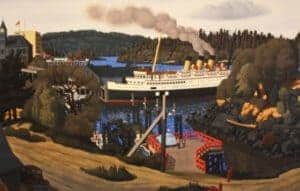 Steamer at the old wharf, Nanaimo
